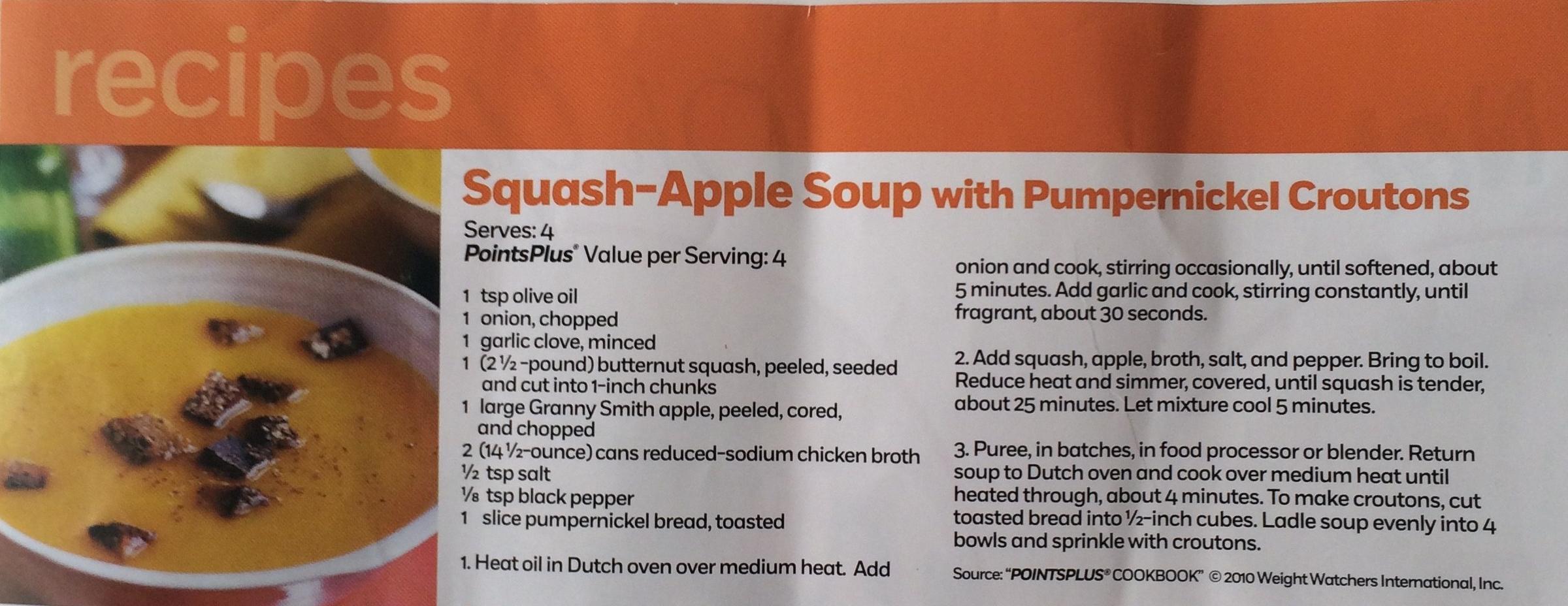 Squash Apple Soup Recipe Rose's Recipes